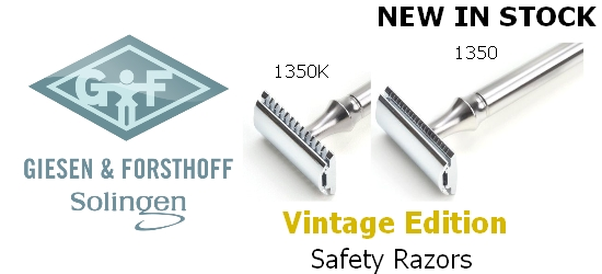 GIESEN & FORSTHOFF Vintage Edition Safety Razors